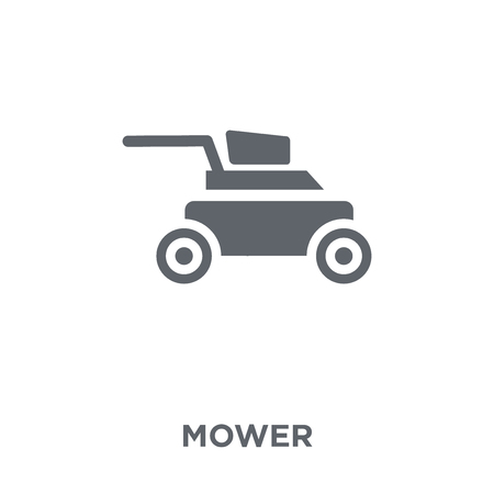 Mower icon. Mower design concept from Agriculture, Farming and Gardening collection. Simple element vector illustration on white background. Stock Illustratie