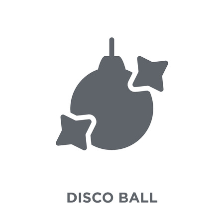Disco ball icon. Disco ball design concept from Birthday and Party collection. Simple element vector illustration on white background. Illustration