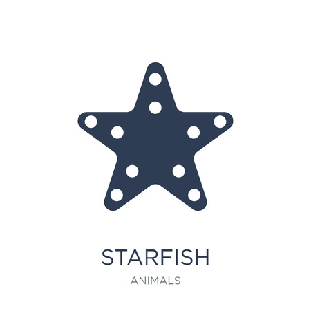 Starfish icon. Trendy flat vector Starfish icon on white background from animals collection, vector illustration can be use for web and mobile, eps10
