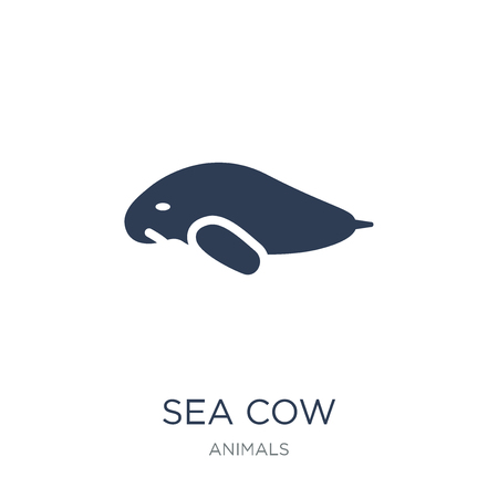 Sea cow icon. Trendy flat vector Sea cow icon on white background from animals collection, vector illustration can be use for web and mobile, eps10