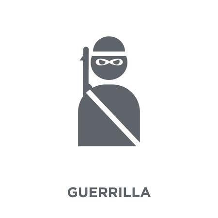 icona di guerriglia. concetto di design di guerriglia da collezione Army. Illustrazione vettoriale semplice elemento su sfondo bianco.