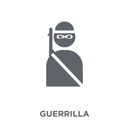 guerrilla icon. guerrilla design concept from Army collection. Simple element vector illustration on white background.