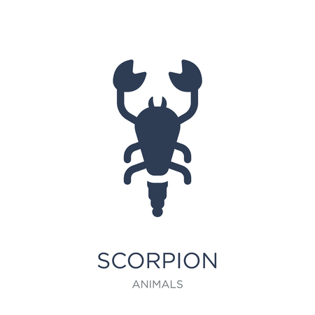 Scorpion icon. Trendy flat vector Scorpion icon on white background from animals collection, vector illustration can be use for web and mobile, eps10