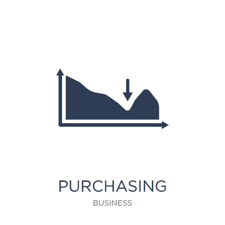Purchasing Managers Index (PMI) icon. Trendy flat vector Purchasing Managers Index (PMI) icon on white background from business collection, vector illustration can be use for web and mobile, eps10  イラスト・ベクター素材