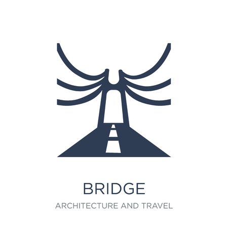 Bridge icon. Trendy flat vector Bridge icon on white background from Architecture and Travel collection, vector illustration can be use for web and mobile, eps10 Illustration