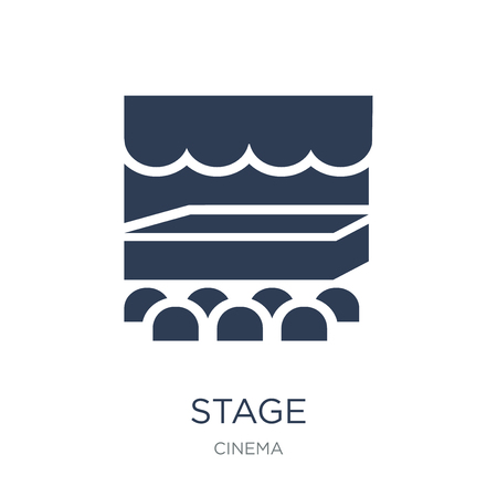 Stage icon. Trendy flat vector Stage icon on white background from Cinema collection, vector illustration can be use for web and mobile, eps10 Ilustração