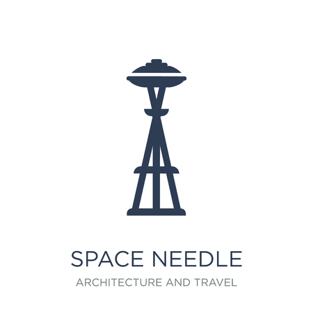 Space needle icon. Trendy flat vector Space needle icon on white background from Architecture and Travel collection, vector illustration can be use for web and mobile, eps10