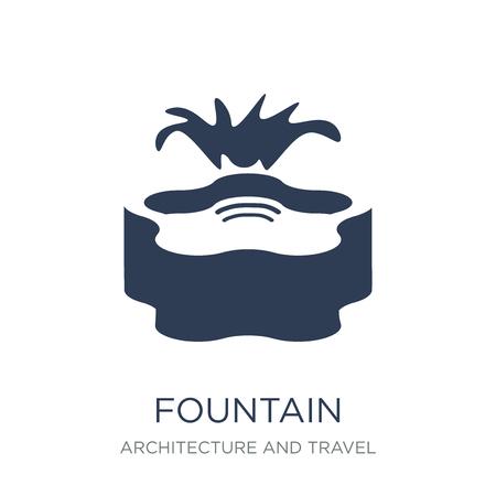 Icône de la fontaine. Icône de fontaine vecteur plat sur fond blanc de la collection Architecture et voyage, illustration vectorielle peut être utilisé pour le web et mobile, eps10