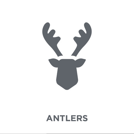 Antlers icon. Antlers design concept from Christmas collection. Simple element vector illustration on white background.