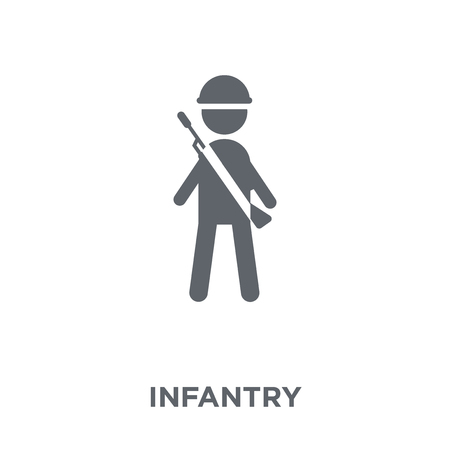 Infantry icon. Infantry design concept from Army collection. Simple element vector illustration on white background. Illusztráció