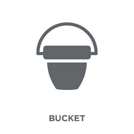 Bucket icon. Bucket design concept from Agriculture, Farming and Gardening collection. Simple element vector illustration on white background.