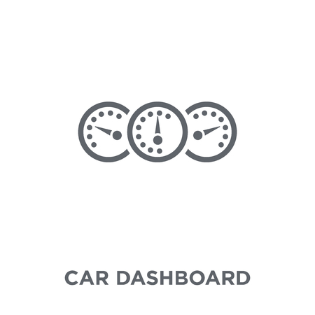 car dashboard icon. car dashboard design concept from Car parts collection. Simple element vector illustration on white background.
