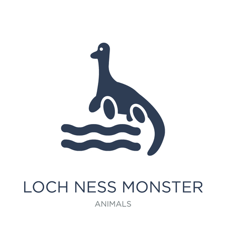 Loch ness monster icon. Trendy flat vector Loch ness monster icon on white background from animals collection, vector illustration can be use for web and mobile, eps10