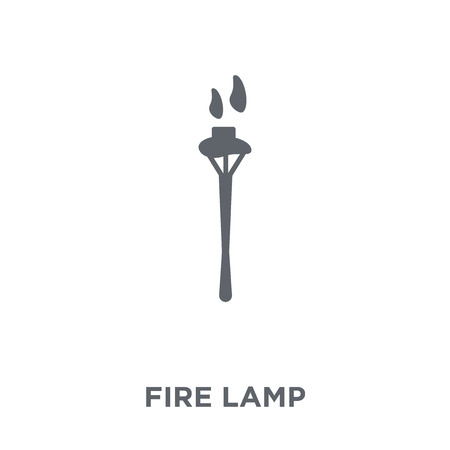 Fire lamp icon. Fire lamp design concept from Camping collection. Simple element vector illustration on white background. Фото со стока - 111953108