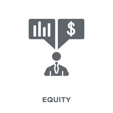 Equity icon. Equity design concept from Equity collection. Simple element vector illustration on white background.