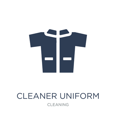 Cleaner Uniform icon. Trendy flat vector Cleaner Uniform icon on white background from Cleaning collection, vector illustration can be use for web and mobile, eps10 Illustration