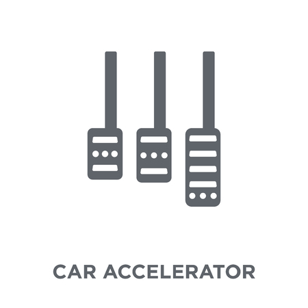 car accelerator icon. car accelerator design concept from Car parts collection. Simple element vector illustration on white background.