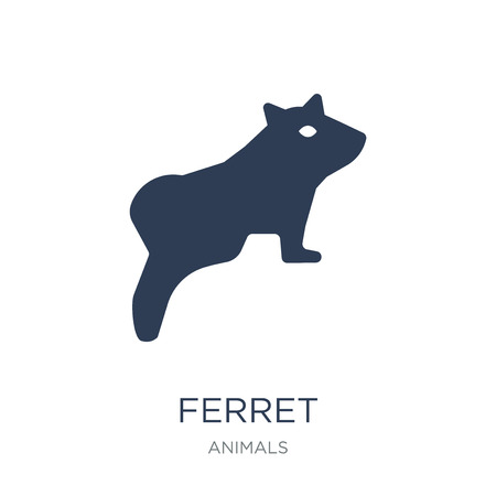Ferret icon. Trendy flat vector Ferret icon on white background from animals collection, vector illustration can be use for web and mobile, eps10