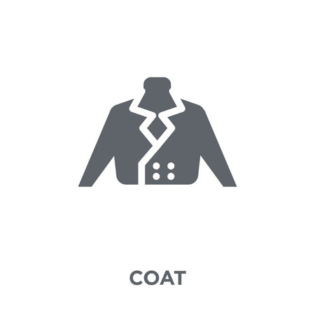 Coat icon. Coat design concept from  collection. Simple element vector illustration on white background.
