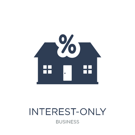 Interest-only mortgage icon. Trendy flat vector Interest-only mortgage icon on white background from Business collection, vector illustration can be use for web and mobile, eps10 版權商用圖片 - 111939963