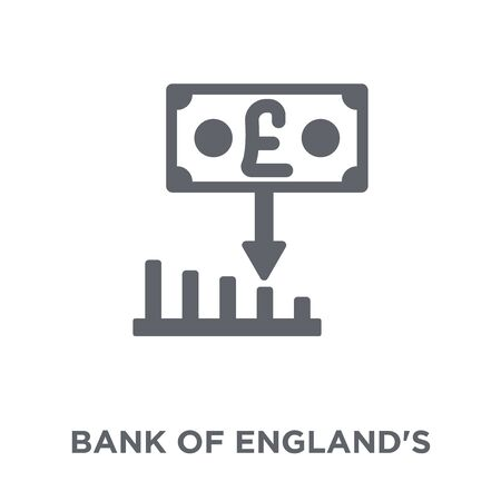 Bank of Englands inflation report icon. Bank of Englands inflation report design concept from Bank of Englands inflation report collection. Simple element vector illustration on white background.