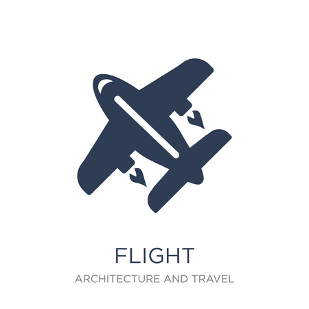 Flight icon. Trendy flat vector Flight icon on white background from Architecture and Travel collection, vector illustration can be use for web and mobile, eps10