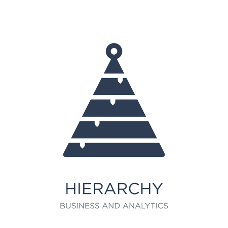Hierarchy icon. Trendy flat vector Hierarchy icon on white background from Business and analytics collection, vector illustration can be use for web and mobile, eps10 向量圖像