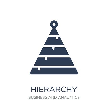Icône de hiérarchie. Icône de hiérarchie vecteur plat sur un fond blanc de la collection Business et analytique, illustration vectorielle peut être utilisé pour le web et mobile, eps10