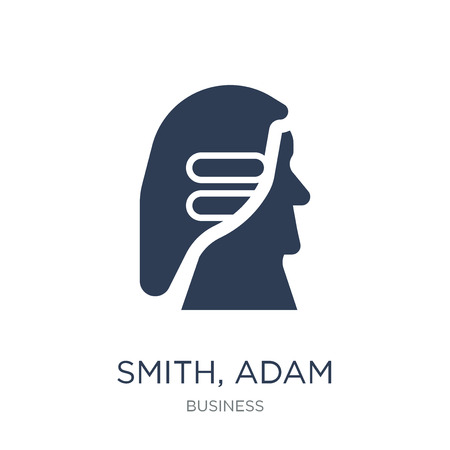 Smith, Adam icon. Trendy flat vector Smith, Adam icon on white background from business collection, vector illustration can be use for web and mobile, eps10
