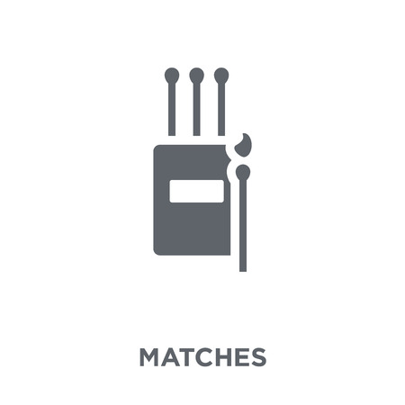 Matches icon. Matches design concept from Camping collection. Simple element vector illustration on white background.