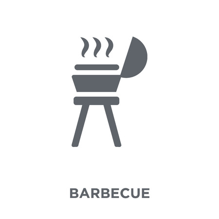 Barbecue icon. Barbecue design concept from Camping collection. Simple element vector illustration on white background. Foto de archivo - 111271523