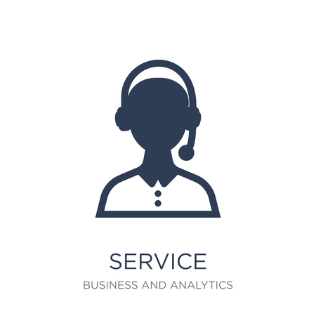 Service icon. Trendy flat vector Service icon on white background from Business and analytics collection, vector illustration can be use for web and mobile, eps10