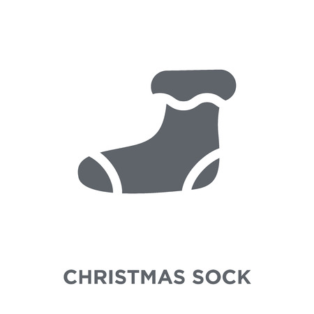 christmas sock icon. christmas sock design concept from Christmas collection. Simple element vector illustration on white background. 일러스트