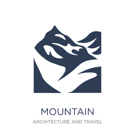 Mountain icon. Trendy flat vector Mountain icon on white background from Architecture and Travel collection, vector illustration can be use for web and mobile, eps10 Illustration