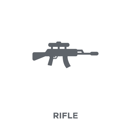 Rifle icon. Rifle design concept from Army collection. Simple element vector illustration on white background.