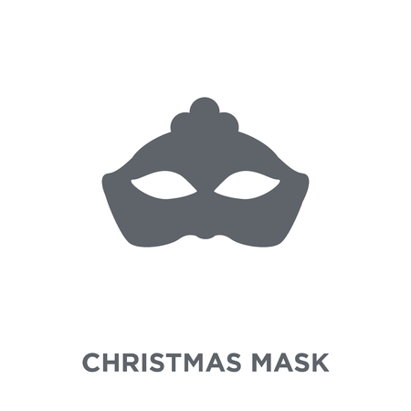 christmas Mask icon. christmas Mask design concept from Christmas collection. Simple element vector illustration on white background. Illustration