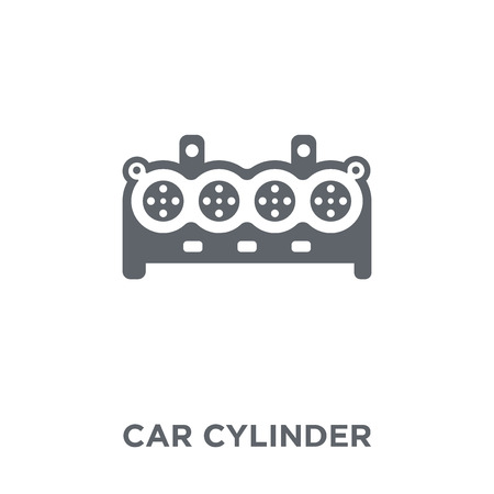 car cylinder icon. car cylinder design concept from Car parts collection. Simple element vector illustration on white background.