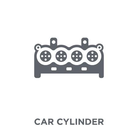 icona del cilindro dell'auto. concetto di design del cilindro dell'auto dalla collezione di parti di auto. Illustrazione vettoriale semplice elemento su sfondo bianco.