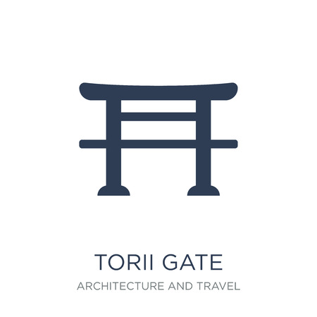 Torii gate icon. Trendy flat vector Torii gate icon on white background from Architecture and Travel collection, vector illustration can be use for web and mobile, eps10 Иллюстрация