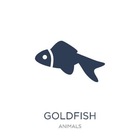 Goldfish icon. Trendy flat vector Goldfish icon on white background from animals collection, vector illustration can be use for web and mobile, eps10 Ilustração