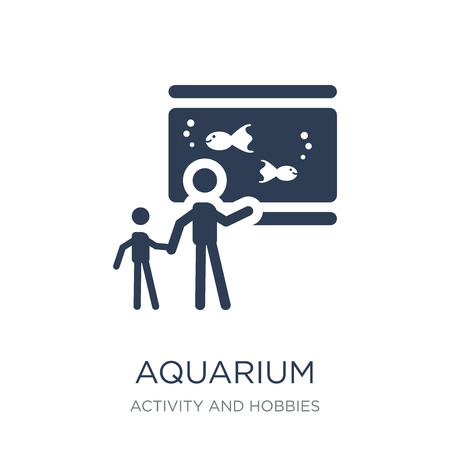 Aquarium icon. Trendy flat vector Aquarium icon on white background from Activity and Hobbies collection, vector illustration can be use for web and mobile, eps10