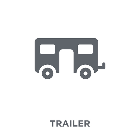 Trailer icon. Trailer design concept from Circus collection. Simple element vector illustration on white background. Illustration
