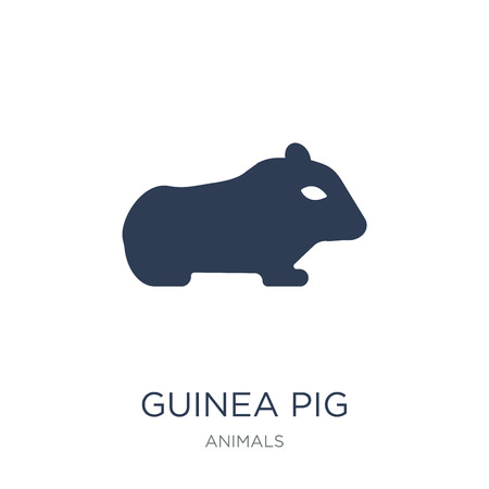 Guinea pig icon. Trendy flat vector Guinea pig icon on white background from animals collection, vector illustration can be use for web and mobile, eps10 矢量图像