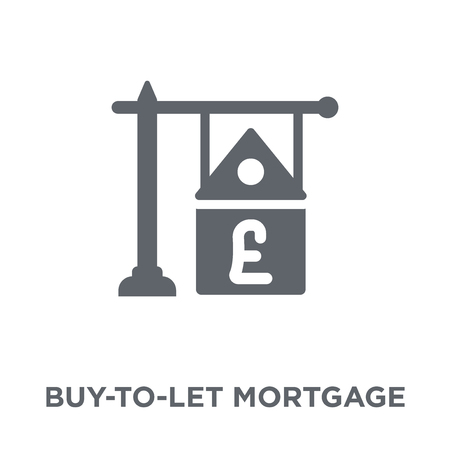 Buy-to-let mortgage icon. Buy-to-let mortgage design concept from Buy to let mortgage collection. Simple element vector illustration on white background.