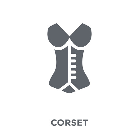 Corset icon. Corset design concept from Clothes collection. Simple element vector illustration on white background. Иллюстрация