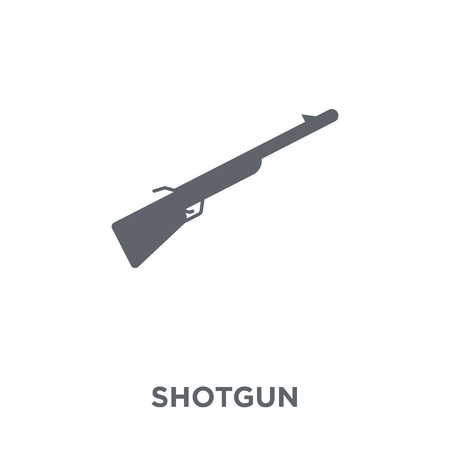 Shotgun icon. Shotgun design concept from Army collection. Simple element vector illustration on white background. Illusztráció
