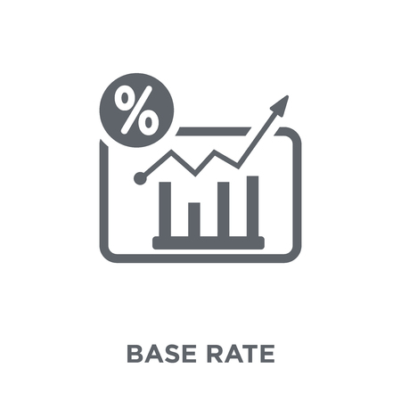 Base rate icon. Base rate design concept from Base rate collection. Simple element vector illustration on white background.
