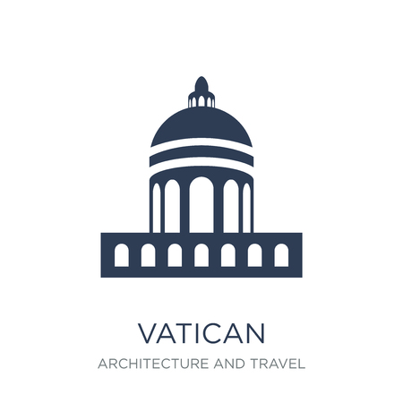 Icono del Vaticano. Icono del Vaticano de moda vector plano sobre fondo blanco de colección arquitectura y viajes, Ilustración de vectores se puede utilizar para web y móvil, eps10 Ilustración de vector