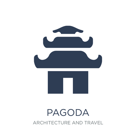 Pagoda icon. Trendy flat vector Pagoda icon on white background from Architecture and Travel collection, vector illustration can be use for web and mobile, eps10