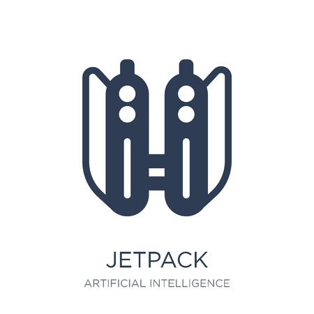 Jetpack icon. Trendy flat vector Jetpack icon on white background from Artificial Intelligence, Future Technology collection, vector illustration can be use for web and mobile, eps10 Illustration